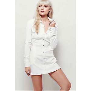 Free People Dynamite White Denim Dress